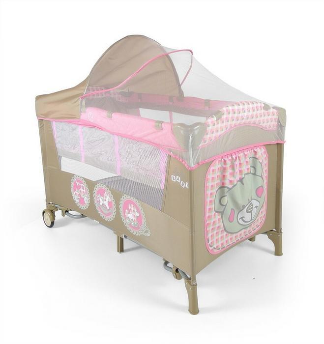 Milly Mally Łóżeczko Turystyczne Milly Mally Mirage Deluxe Pink Toys