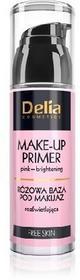 DELIA Cosmetics Free Skin Baza pod makijaż różowa rozświetlająca 35ml
