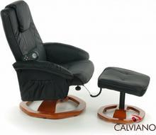 CALVIANO fotel biurowy z masażem + puff z masażem - czarny 91