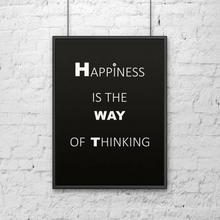 DekoSign Plakat dekoracyjny w ramie HAPPINESS DS-PL1-1