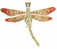 Nicole Barr (UK) Złoty wisior z emalią i brylantami, złoto 18K