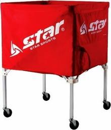 Wózek na piłki do koszykówki Star - czerwony XZ100-04 (czerwony)