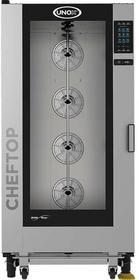 Unox Piec konwekcyjno-parowy 20xGN1/1 ChefTop Plus gazowy system myjący dotykowy ekran wózek 9002062