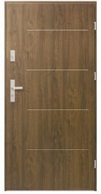 Drzwi stalowe zewnętrzne Elegance 80 cm prawe orzech