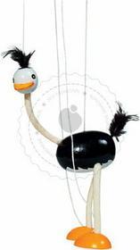 Goki Ciekawski struś - marionetka - zabawki drewniane - SO104