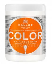 Kallos DLM SP. Z O.O. COLOR Maska do włosów farbowanych Z olejem lnianym i filtr
