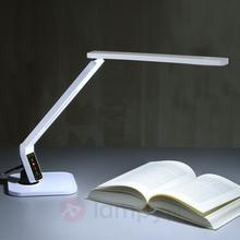 Lampenwelt Bardzo nowoczesna lampka na biurko LED Eleni biala
