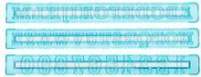 Tala Szablony liter i cyfr do dekoracji Retro 3 szt. 10A09748