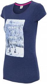 4F [T4Z16-TSD004] T-shirt damski TSD004 granatowy melanż [T4Z16-TSD004] Womens T-shirt TSD004 navy melange