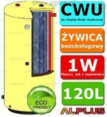 Ermet 120l surowy pionowy dwupłaszczowy bojler do CWU - podgrzewacz wymiennik be