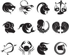 Szabloneria Komplet 12 naklejek dekoracyjnych - Znaki zodiaku - 50 kolorów do wy