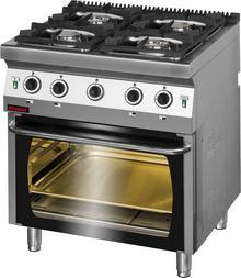 Kromet Kuchnia gazowa 4-palnikowa z piekarnikiem gazowym 700.KG-4/PG2