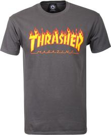 Thrasher T-shirt FLAME LOGO CHARCOAL GRAY