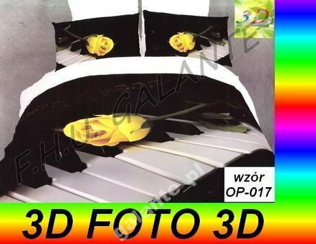 POSCIEL SATYNA_bawełna 100%_3-D FOTO_ 160x200
