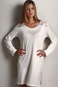 Luisa Moretti Bambusowa koszula nocna damska ANNA XL Kremowy LM_2028