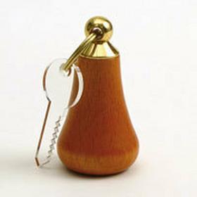 B2B Partner Brelok na klucze drewniany bez gumy 309102