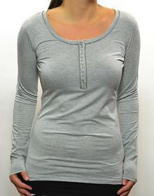 Roxy Bluzka z długim rękawem damska czarny SKY STRIPED