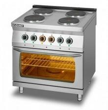 Lozamet Kuchnia elektryczna 4-płytowa z piekarnikiem elektrycznym GN2/1 L700.KEO4 PE
