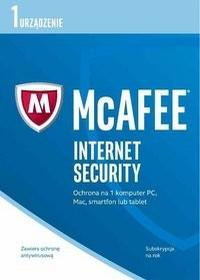 McAfee Internet Security 2017 PL 1 stanowisko 12 miesięcy) BOX