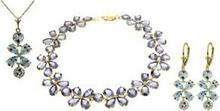 Galaxy Gold Products , Inc 1701 Komplet biżuterii z akwamarynów