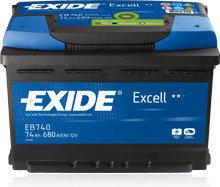 Exide Excell 35Ah 240A EB356 P+