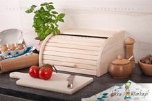 Practic Chlebak drewniany z żaluzją