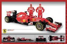 Ferrari F1 Fernando Alonso, Kimi Raikkonen - Plakat