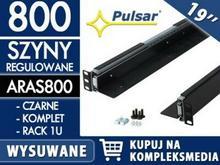 PULSAR Wysuwana szyna do szafy RACK 19 ARAS800 czarna / W PAKIETACH KUPISZ TANIEJ! ARAS800