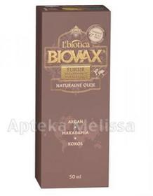 Lbiotica L BIOVAX NATURALNE OLEJE eliksir wygładzająco nawilżający - 50ml