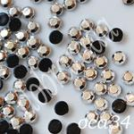 Ozdoby do paznocki okrągłe szlifowane ss12 oca34 silver
