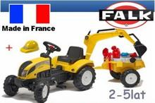 Falk Traktor  Ranch koparka przyczepa i kask 2055N