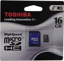 Toshiba Micro SDHC Class 4 (+ adapter) 16GB