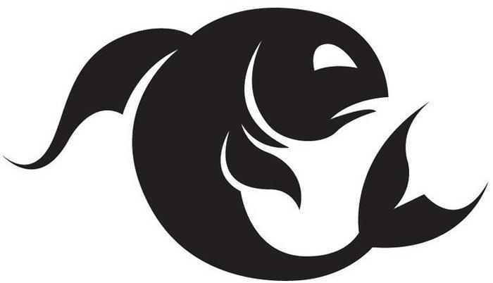 Szabloneria Naklejka Znak Zodiaku - RYBY, 50 kolorów do wyboru