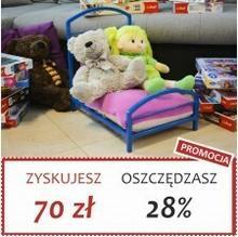 Grupa Lak System | Łóżka Metalowe Zuzia - Łóżeczko dla lalek maskotek pupili