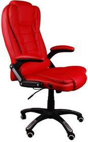 GlobalPlayers Fotel biurowy BRUNO czerwony z masażem