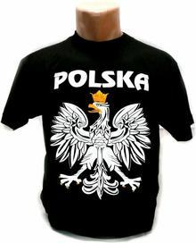 Podkoszulek T-shirt Czarny Orzeł