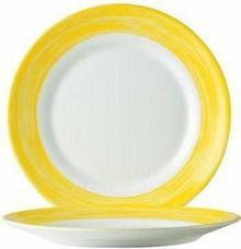 Arcoroc Talerz płytki Brush- żółty 195 mm 49139