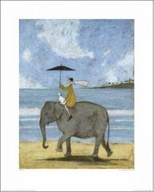 Wędrówka na słoniu - Obraz, reprodukcja
