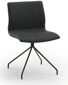 LaForma Krzesło TIME1 Czarne - Nogi Epoksydowe C231U01