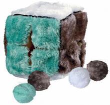 Trixie Zabawki Pluszowa Kostka z piłeczkami z kocimiętką dla kota nr kat. 4104