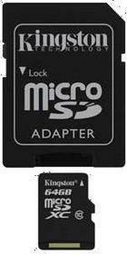 Kingston MicroSDXC class 10 ( + adapter ) 64GB