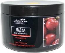 Joanna Professional wiśniowa Maseczka do włosów farbowanych 500g