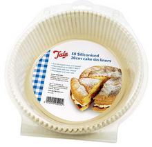 Tala Formy papierowe do pieczenia silikonowane 50 szt. okrągłe 10A05220
