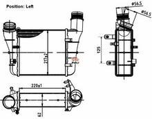 NRF Chłodnica powietrza doładowującego - intercooler 30251