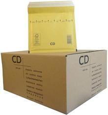 VP Koperty bąbelkowe CD 180 x 165 brązowe 100 szt. 2FVAF200413