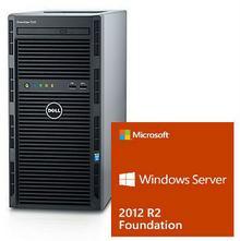 Dell Serwer T130 Xeon E3-1220v5 3.0GHz / RAM 8GB DDR4 / HDD 2x1000GB w Raid1 / 3Y NBD / Windows Server 2012R2 dla 15 uzytkowników / Zestaw !!! 52557026WSF12