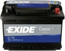 Exide Classic 70Ah 640A EC700 P+