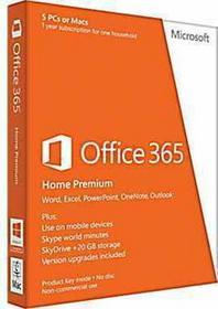 Microsoft Office 365 Home Premium - dla użytkowników domowych (5 stan.) PC/MAC