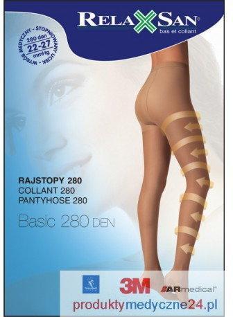 RelaxSan Rajstopy medyczne 280 DEN, ucisk 22-27 mmHg art. 980
