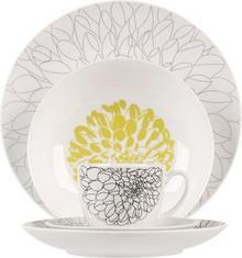 THK Elegancki Serwis obiadowy Garden 30 elem. porcelana